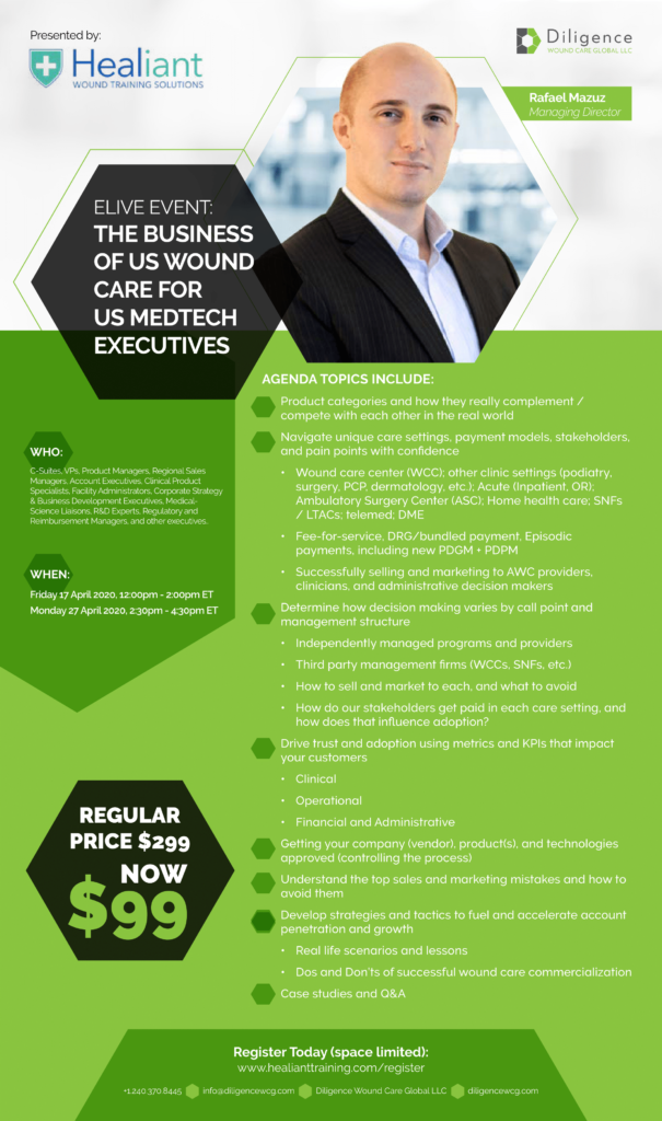 The Business of US Wound Care for MedTech Executives Virtual Course Brochure - Apr 2020